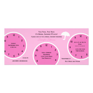 Around the Clock Bridal Shower Invitation Pink Personalized Announcements