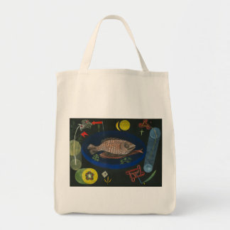 Around the Fish - Paul Klee Canvas Bags