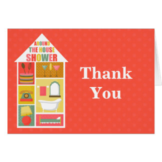 Around the House Shower Thank You Card