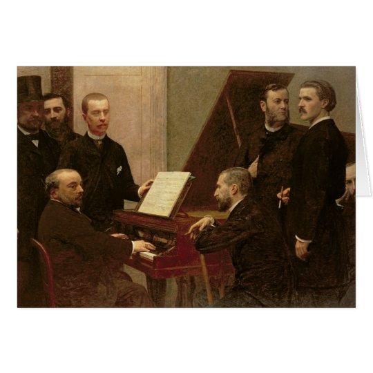 Around the Piano, 1885 Card