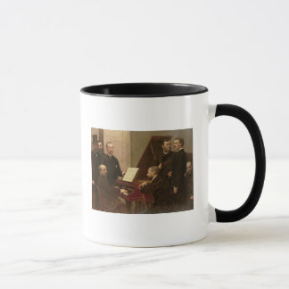 Around the Piano, 1885 Mug