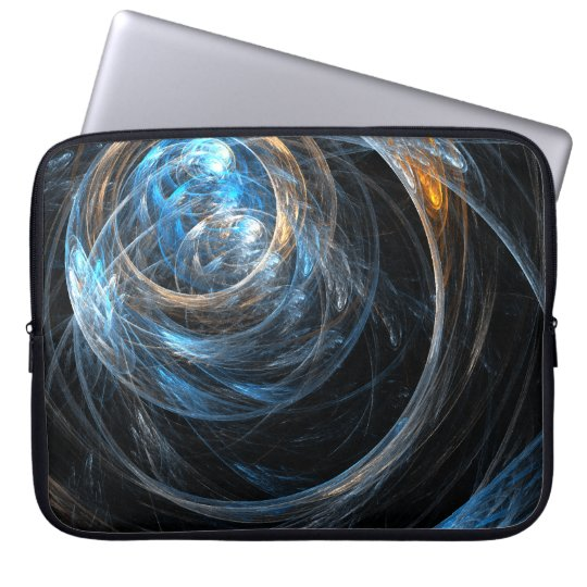 Around the World Abstract Art Laptop Sleeve
