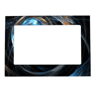 Around the World Abstract Art Magnetic Picture Frame
