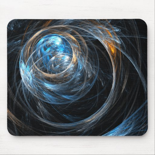 Around the World Abstract Art Mousepad