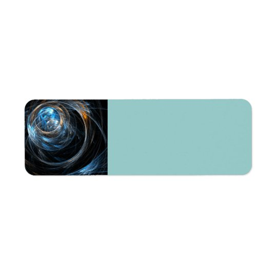 Around the World Abstract Art Return Address Label