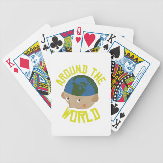 Around the World Bicycle Playing Cards