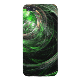 Around the World Green Abstract Art iPhone 5/5S Cases