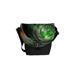 Around the World Green Abstract Art Mini Bag Courier Bags