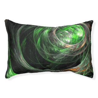 Around the World Green Abstract Art Pet Bed
