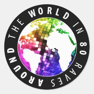Around The World In 80 Raves - Sticker