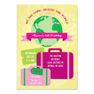 Around The World Invitation
