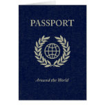 around the world : passport greeting card