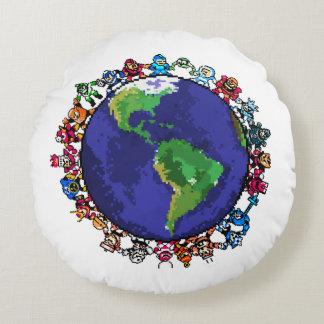 Around the World Round Cushion