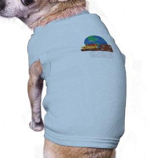 Around the world sleeveless dog shirt