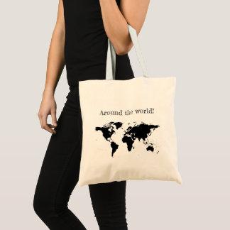 """""""Around the world"""" tote"""