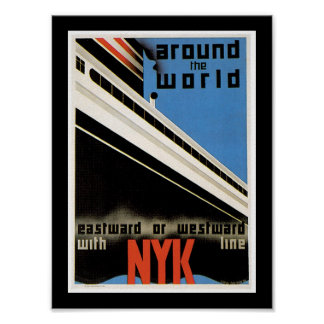 Around the World with NYK Poster