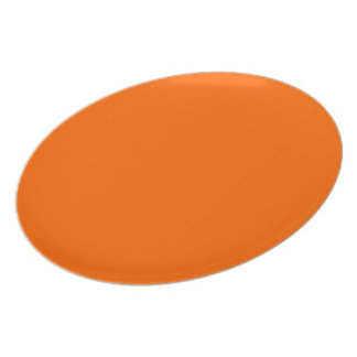 Around uni orange chalkboard plate