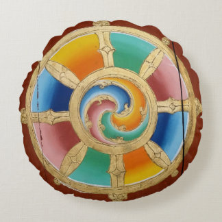 Around zen kissing life wheel round cushion