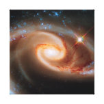 Arp 273 Rose Galaxies Gallery Wrapped Canvas