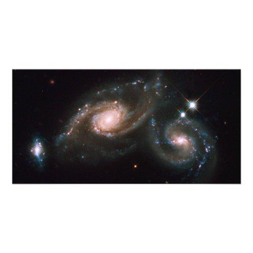 Arp 274 Galaxies NASA Space Custom Photo Card