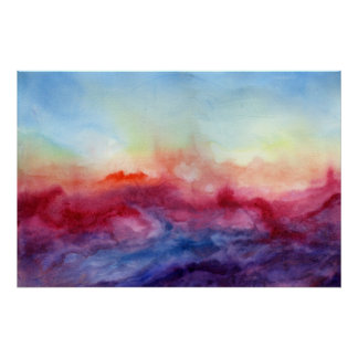 Arpeggi Watercolor Art Print Poster