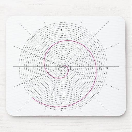arquimedes espiral dextrogira mouse pad