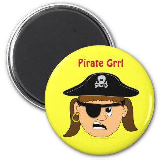 Arr Pirate Girl Cute Customizable Kid Pirate Stuff Magnet