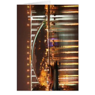 Arrabida Bridge by night, Oporto, Portugal Greeting Card