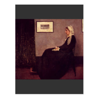 Arrangement in Black and Gray by Whistler Postcard