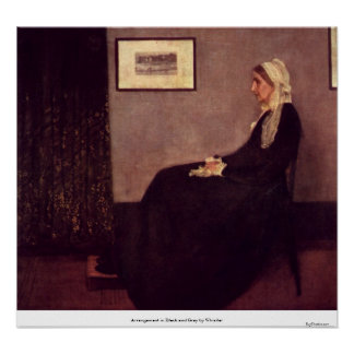 Arrangement in Black and Gray by Whistler Posters