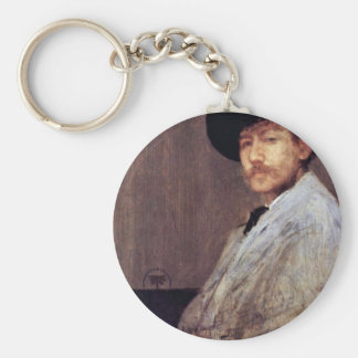 Arrangement In Gray Portrait Of The Artist (Selfpo Key Ring