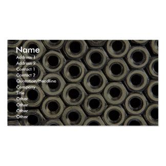 Arrangement of metal nuts business card