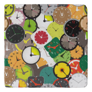 Array of animated Clocks Trivet