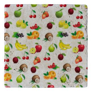 Array of fruits background pattern trivets