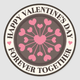 Array of Hearts Forever Together Valentine Classic Round Sticker