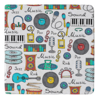 Array of music equipment trivet
