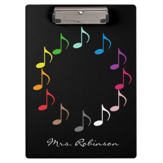 Array of Musical Notes Clipboard
