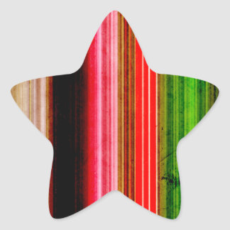 Array of Textured Colors Star Sticker
