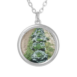 Arrays of cabbages and onions silver plated necklace