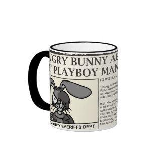 Arrested Angry Bunny Mug