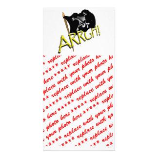 ARRGH! Pirate Flag Customized Photo Card
