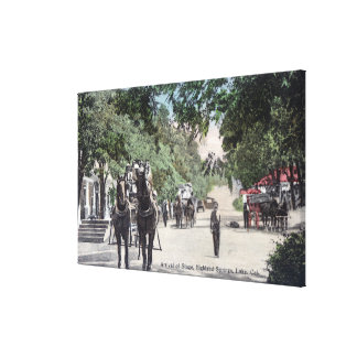 Arrival of a StagecoachHighland Springs, CA Canvas Print