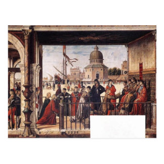 Arrival Of The English Ambassadors By Carpaccio Postcard