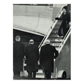 Arrival Queen Elizabeth II  as Queen Postcard