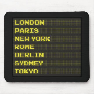 Arrivals and Departures Mouse Pads