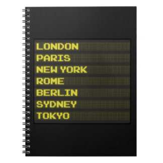 Arrivals and Departures Notebook
