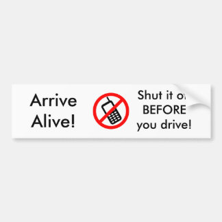 Arrive Alive! Bumper Sticker