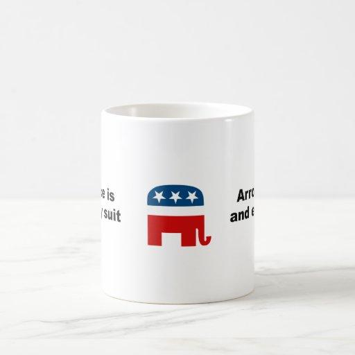 Arrogance is an empty suit mug