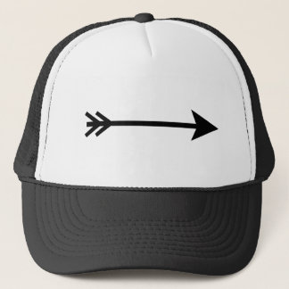 Arrow Black Straight The MUSEUM Zazzle Gifts Trucker Hat
