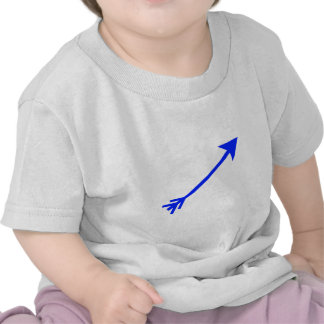 Arrow Blue 35deg The MUSEUM Zazzle Gifts Tshirts